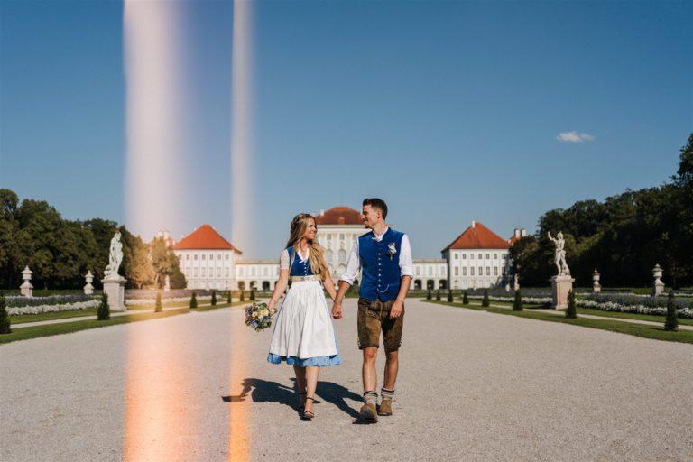 hochzeitsbilder schlosspark nymphenburg in tracht